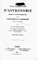 COURS ÉLÉMENTAIRE D'ASTRONOMIE...