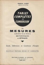 TABLES COMPLÉTES DE CONVERSION DES MESURES AMÉRICAINES, BRITTANIQUUES ET MÉTRIQUES
