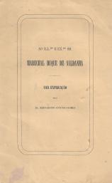 UMA EXPLICAÇÃO (AO ILLMO. E EXMO. SR. MARECHAL DUQUE DE SALDANHA)