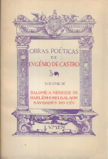 OBRAS POÉTICAS DE EUGÉNIO DE CASTRO
