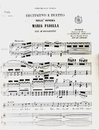 MARIA PADILLA(RECITATIVO E DUETTO:(INES! MIA DOLCE SUORA!) - PARTITURA