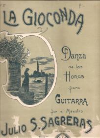 LA GIOCONDA-DANZA DE LAS HORAS PARA GUITARRA - PARTITURA