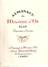ALMANACH DU MASQUE D'OR 1921(PREMIÉRE ANNÉE)