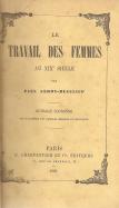 LE TRAVAIL DES FEMMES AU XIXÈME SIÉCLE