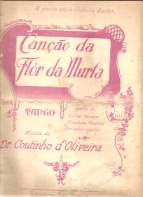 CANÇÃO DA FLOR DA MURTA - TANGO - PARTITURA