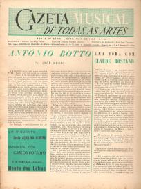 GAZETA MUSICAL E DE TODAS AS ARTES