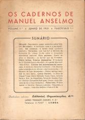 OS CADERNOS DE MANUEL ANSELMO