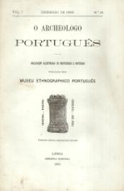 O ARCHEOLOGO PORTUGUÊS-COLECÇÃO ILLUSTRADA DE MATERIAIS E NOTÍCIAS ...