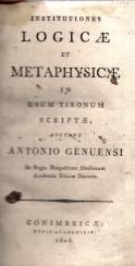 INSTITUTIONES LOGICAE ET METAPHYSICAE IN USUM TIRONUM SCRIPTAE
