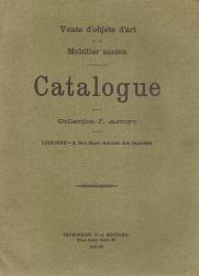 VENTE D'OBJETS D'ART ET DE MOBILIER ANCIEN-CATALOGUE-COLLECTION J.ARROYO
