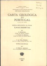 CARTA GEOLÓGICA DE PORTUGAL-NOTA EXPLICATIVA DA FOLHA ILHAS DESERTAS