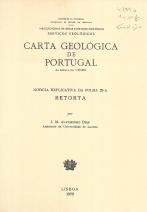 CARTA GEOLÓGICA DE PORTUGAL-NOTÍCIA EXPLICATIVA DA RETORTA