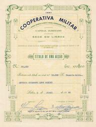 TÍTULO DE 1 ACÇÃO DA COOPERATIVA MILITAR
