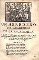 VIDA, Y HECHOS DEL INGENIOSO CAVALLERO DON QUIXOTE DE LA MANCHA...