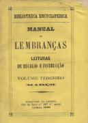 MANUAL DE LEMBRANÇAS-LEITURAS DE RECREIO E INSTRUCÇÃO
