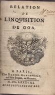 RELATION DE L'INQUISITION DE GOA