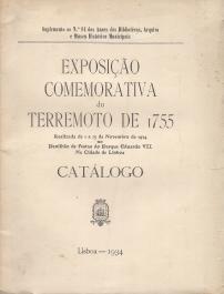 EXPOSIÇÃO COMEMORATIVA DO TERREMOTO DE 1755-CATÁLOGO