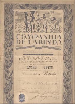 COMPANHIA DE CABINDA, S.A.R.L.-TÍTULO DE CINCO ACÇÕES