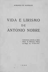 VIDA E LIRISMO DE ANTÓNIO NOBRE