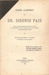 ELOGIO ACADÉMICO DO DR.SIDÓNIO PAIS
