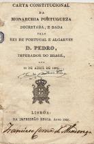 CARTA CONSTITUCIONAL DA MONARCHIA PORTUGUEZA DECRETADA, E DADA PELO REI DE PORTUGAL E ALGARVES D.PEDRO, IMPERADOR DO BRASIL, AOS 29 DE ABRIL DE 1826.