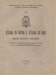 ALFAMA DE ONTEM & ALFAMA DE HOJE-ASPECTOS HISTÓRICOS E ETNOGRÁFICOS