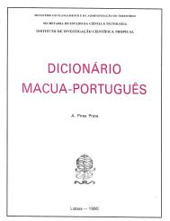 DICIONÁRIO MACUA-PORTUGUÊS