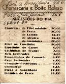 CHURRASCARIA E BOITE BOLERO - SUGESTÕES DO DIA