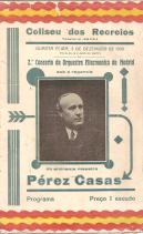 COLISEU DOS RECREIOS-2º CONCERTO DA ORQUESTRA FILARMONICA DE MADRID