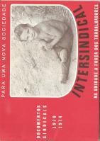 INTERSINDICAL - DOCUMENTOS SINDICAIS (1970-1974)
