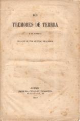 DOS TREMORES DE TERRA E EM ESPECIAL DOS QUE SE TEM SENTIDO EM LISBOA