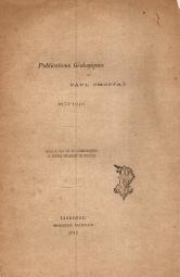 PUBLICATIONS GÉOLOGIQUES DE PAUL CHOFFAT (1874-1910)