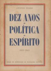 DEZ ANOS DE POLÍTICA DO ESPÍRITO (1933-1943)