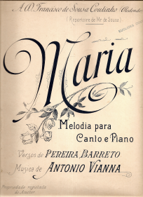 A MARIA-MELODIA DE CANTO E PIANO - PARTITURA
