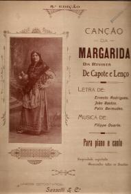 CANÇÃO DA MARGARIDA, DA REVISTA «DE CAPOTE E LENÇO» - PARTITURA