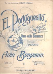 «EL PORTUGUESITO» - PASA-CALLE FLAMENCO PARA PIANO - PARTITURA