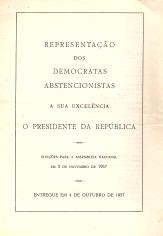 REPRESENTAÇÃO DOS DEMOCRATAS ABSTENCIONISTAS A SUA EXCELÊNCIA O PRESIDENTE DA REPÚBLICA