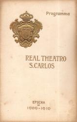 REAL THEATRO DE S.CARLOS - PROGRAMA DA RÉCITA «THÈRÈSE»