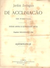 JARDIM ZOOLOGICO DE ACCLIMAÇÃO EM PORTUGAL - ESTATUTOS
