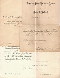 PARTICIPAÇÕES DE CASAMENTO DE MEMBROS DA CHAMADA «ALTA SOCIEDADE» PORTUGUESA, DURANTE A PRIMEIRA METADE DO SÉCULO XX