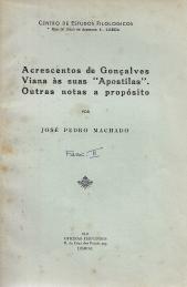 ACRESCENTOS DE GONÇALVES VIANA ÀS SUAS «APOSTILAS». OUTRAS NOTAS A PROPÓSITO