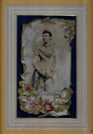RAINHA D. AMÉLIA-ESTAMPA EMOLDURADA