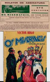 BOLETIM DE ASSINATURA DE «OS MISERÁVEIS», DE VÍTOR HUGO