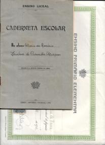 DIPLOMA DO ENSINO PRIMÁRIO ELEMENTAR (2ºGRAU)+CADERNETA ESCOLAR DO ENSINO LICEAL