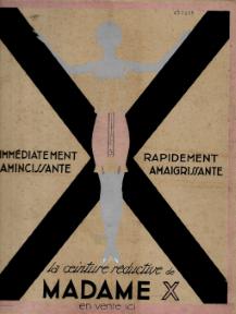 ANÚNCIO «LA CEINTURE RÉDUCTIVE DE MADAME X»