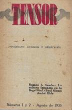 TENSOR-INFORMACION LITERARIA Y ORIENTACION-REVISTA