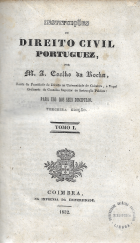 INSTITUIÇÕES DE DIREITO CIVIL PORTUGUEZ