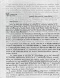 CARTA DE JOSÉ ALVELLOS, CHEFE DE REPARTIÇÃO DO SNI EM SUBSTITUIÇÃO DO DIRECTOR (JOSÉ MANUEL DA COSTA) PARA O MINISTRO DA PRESIDÊNCIA, J.COSTA LEITE (LUMBRALLES)+DESPACHO DO MIN. DA PRESIDÊNCIA J.COSTA LEITE (LUMBRALLES)