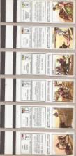 COLECÇÃO DE CARTEIRAS DE FÓSFOROS DEDICADAS À TAUROMAQUIA COM DESENHOS DE MARTIN MAQUEDA, DESCRIÇÃO DAS DIVERSAS «SORTES» NO TOUREIO E UM CONJUNTO DE DIVISAS E FERROS PORTUGUESES