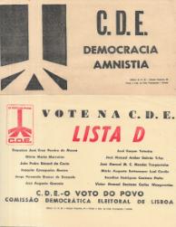 PANFLETOS DE APELO AO VOTO NA C.D.E.